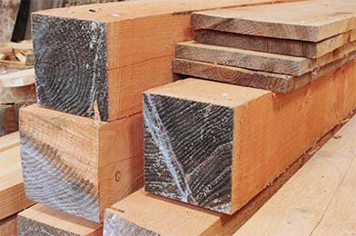 Timber Beams Cut to measure at Sussex Timber Co