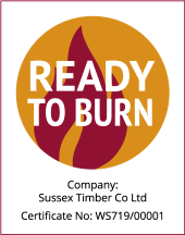 Ready to Burn Seasoned Firewood certificate fo Sussex Timber Co